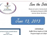 Upcoming June 13, 2013: CBPR Summer Dinner Workshop!