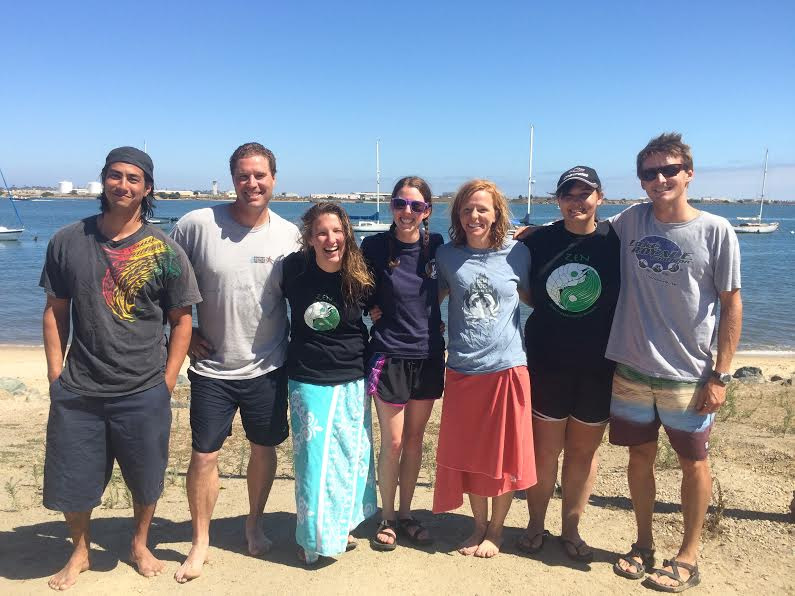 Hovel lab research team after diving in San Diego Bay