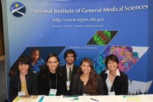Headshot of IMSD scholars at NIGMS Booth