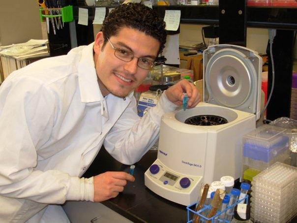 Upper Body Shot of Adrian Contreras in Lab