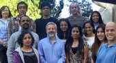 SDSU biology professor Sanford Bernstein, center, and his team of researchers.