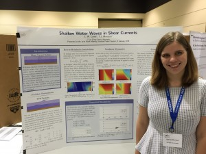 Theresa Morrison, IMSD Scholar, presenting research poster