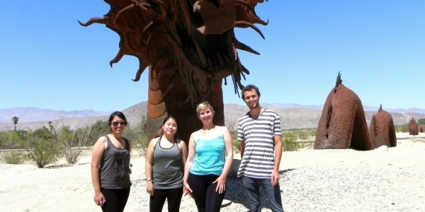Sampling trip to hot desert